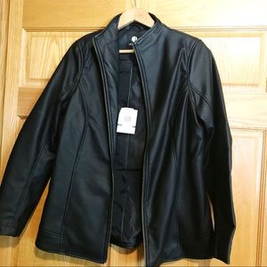 NWT Jessica Faux Leather Lined Jacket M (10-12)
